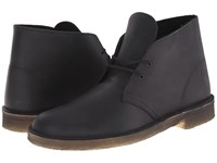 Clarks Desert Boot Black Beeswax Leather Men's Lace Up Boots