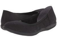 Softwalk Hampshire Black Nubuck Leather Women's Flat Shoes
