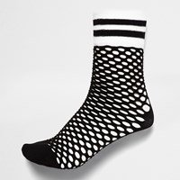 River Island Womens Black Sporty Fishnet Socks