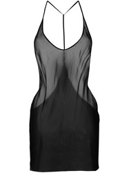 Ann Demeulemeester Icon Spaghetti Strap Sheer Top Black