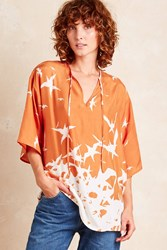 J. Lindeberg J.Lindeberg Ilina Silk Blouse Orange