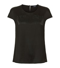 Armani Jeans Stud Front Top Female Black
