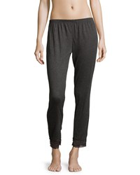 Eberjey Cece Lace Trimmed Cropped Lounge Pants Thunderstorm