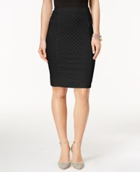 Cece By Cynthia Steffe Jacquard Pencil Skirt Rich Black
