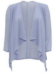 Gina Bacconi Chiffon Waterfall Jacket Blue Mist