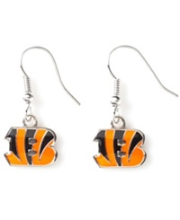 Aminco Cincinnati Bengals Logo Drop Earrings Team Color