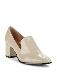 Calvin Klein Faye Patent Leather Loafers Beige