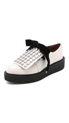 Marc By Marc Jacobs Berry Oxford Creepers White