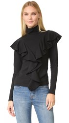 Rodebjer Jennifer Ruffle Top Black