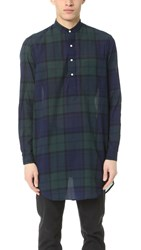 Gitman Brothers Vintage Blackwatch Japanese Voile Long Shirt