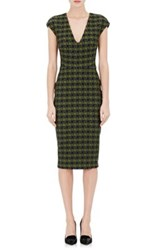 Victoria Beckham Women's Striped And Geometric Jacquard Mid Length Sheath Dress No Color