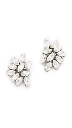 Ben Amun Crystal Cluster Earrings Clear