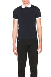 Moncler Short Sleeve Polo In Black