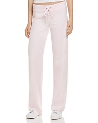 Juicy Couture Black Label Original Flare Velour Sweatpants In Baby Pink 100 Bloomingdale's Exclusive