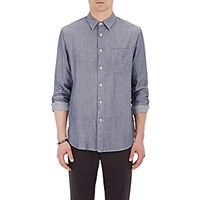 Rag And Bone Men's Button Front Beach Shirt Navy