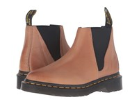 Dr. Martens Bianca Low Shaft Zip Chelsea Brown Antique Milled Brunido Women's Pull On Boots