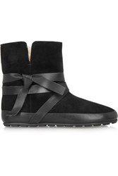 Etoile Isabel Marant Nygel Leather And Shearling Ankle Boots Black