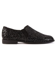 Astraet Glitter Loafers Black