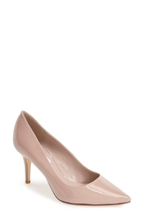 Dune London 'Alina' Patent Leather Pointy Toe Pump Women Beige Patent