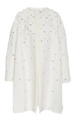 Dice Kayek Boxy Embellished Coat White