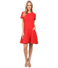 Donna Morgan T Shirt Dress With Flared Skirt Tincture Red Women's Dress