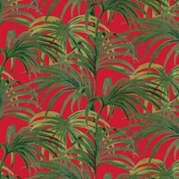 Palmeral Wallpaper Red Green