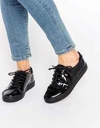 Asos Darley Clean Lace Up Trainers Black
