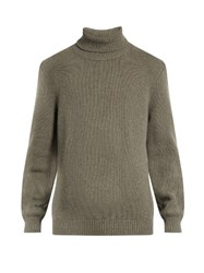 Massimo Alba Roll Neck Wool Sweater Light Grey