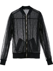 Sophie Theallet Sheer Bomber Jacket Black