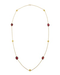 Jude Frances Rhodolite Garnet And Quilted Kite Station Necklace