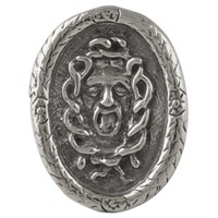 Reagan Charleston Medusa Cocktail Ring Sterling Silver