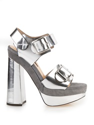 Chrissie Morris Ida Leather Platform Heeled Sandals