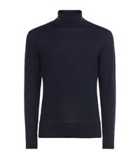 Tom Ford Roll Neck Sweater Male Navy