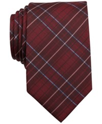 Bar Iii Surly Plaid Slim Tie Only At Macy's Red