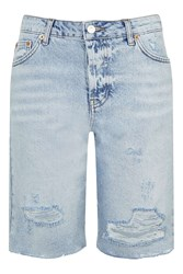 Topshop Moto Denim Long Line Short