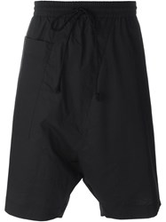 Lost And Found Rooms Drop Crotch Track Shorts Black