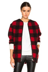 Etoile Isabel Marant Isabel Marant Etoile Gelicia Check Coat In Red Checkered And Plaid