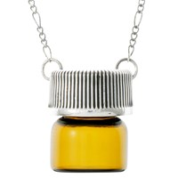 Cast Of Vices Vial Pendant Necklace Amber