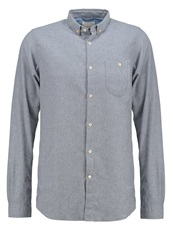 Knowledge Cotton Apparel Solid Slim Fit Shirt Light Grey