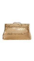 Whiting And Davis Studio 54 Cross Body Bag Gold