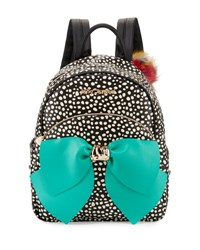 B By Brian Atwood Bow Dotted Faux Leather Backpack Spot