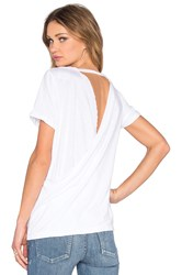 Chaser Cross Back Rolled Sleeve Tee White