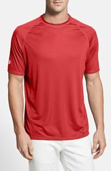 Men's Tommy Bahama 'Sun Chaser' Island Modern Fit Moisture Wicking T Shirt Pomodoro Red