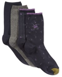 Gold Toe Women's 4 Pk. Floral Net Socks Dark Indigo
