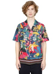 Valentino Tropical Cotton Poplin Bowling Shirt