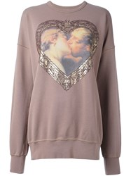 Vivienne Westwood Anglomania 'Hercules Kiss' Sweatshirt Nude And Neutrals