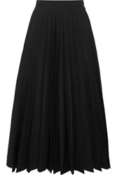 Junya Watanabe Pleated Taffeta Midi Skirt Black