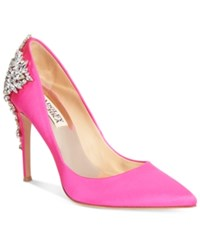 Badgley Mischka Gorgeous Pointed Toe Evening Pumps Women's Shoes Pink