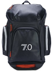 Emporio Armani Ea7 Logo Print Oversized Backpack Black