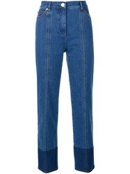 Valentino Two Tone Jeans Indigo Blue Denim